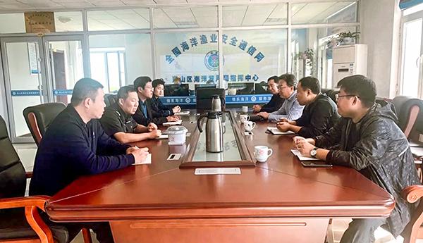 共谋渔业安全—胶州市渔业主管部门到岚山区开展渔业安全管理调研